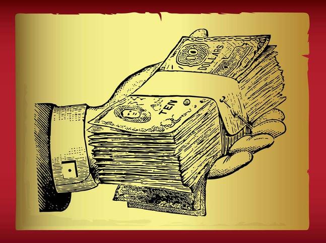 Money Handout vector free