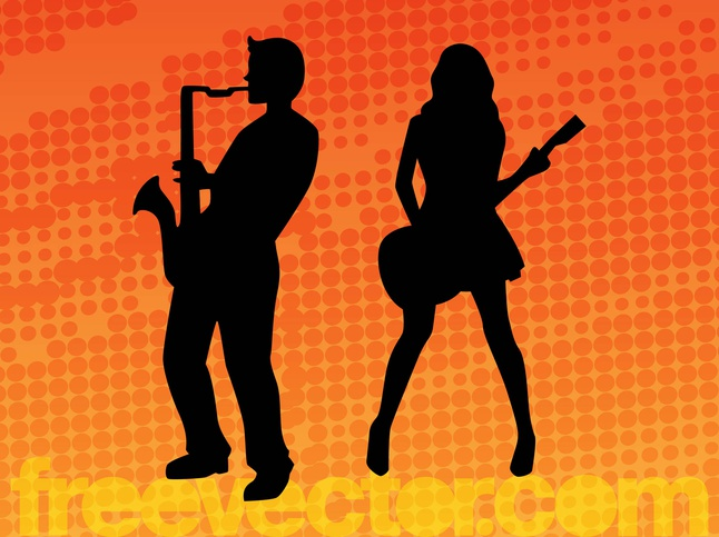 Musicians vector free