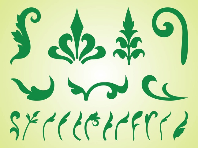 Plant Silhouettes Set vector free