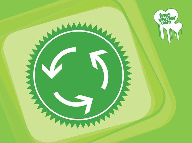 Recycle Arrows Design vector free