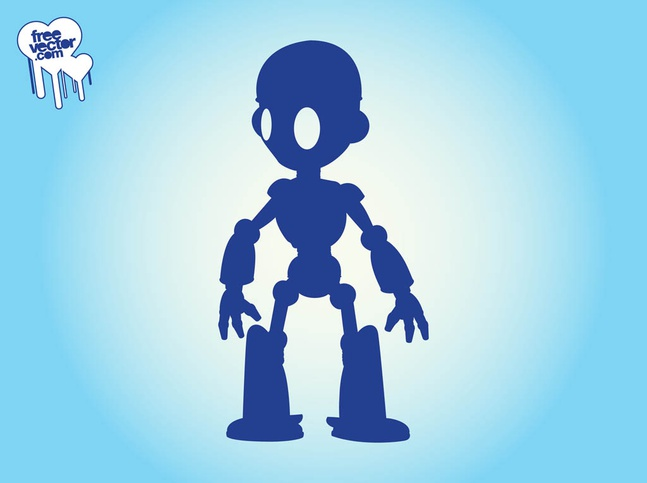 Robot Silhouette vector free