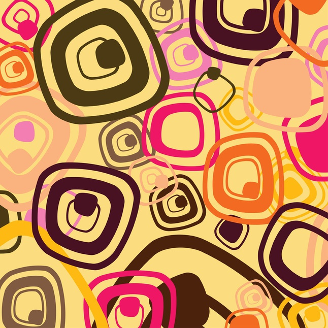 Sixties Pattern Vector free