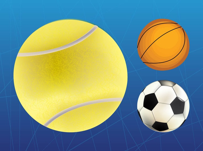 Sports Balls vector free