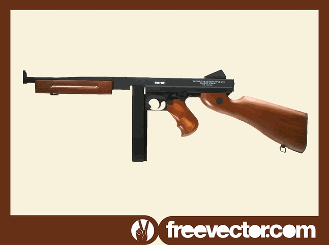 Thompson Submachine Gun vector free