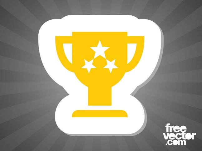 Trophy Sticker vector free
