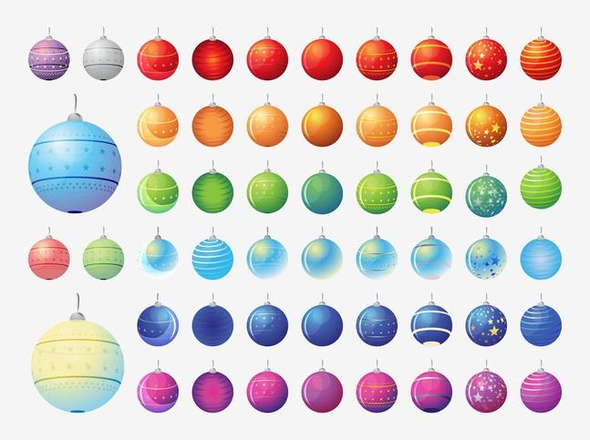 Vector Christmas Balls Collection free