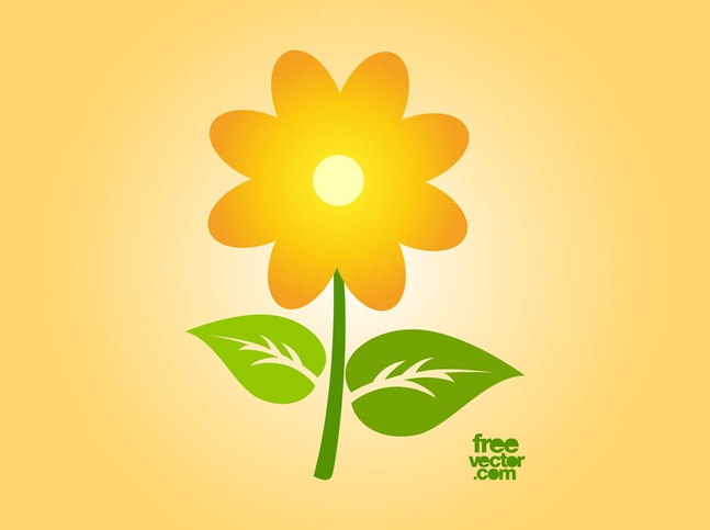 Vector Sunflower Icon free