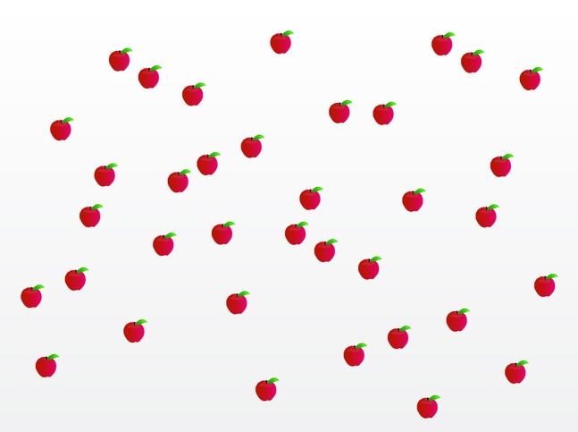 Apples Pattern vector free