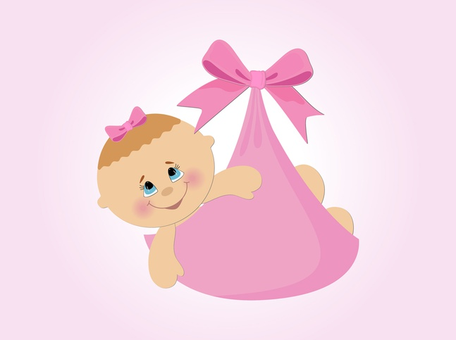 Baby Girl Vector Cartoon free