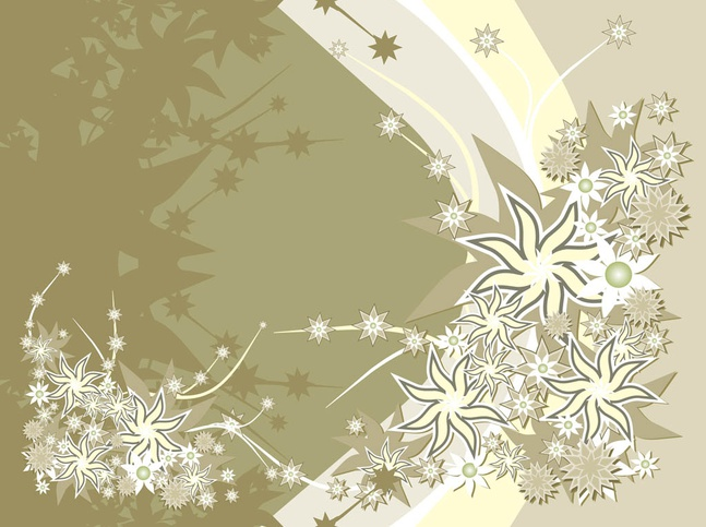 Background Template With Flowers Design vector free