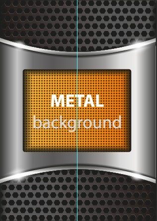 Bright chrome metal background vector graphics 05 free