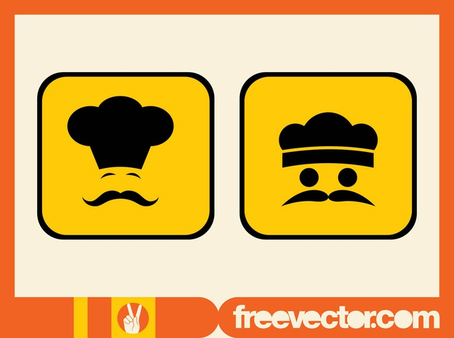 Chef Icons vector free