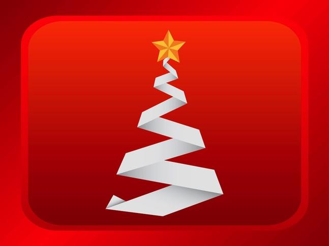Christmas Origami vector free