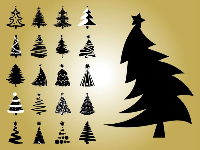 Christmas Tree Vectors free