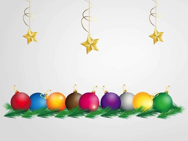 Colorful Christmas Graphics vector free