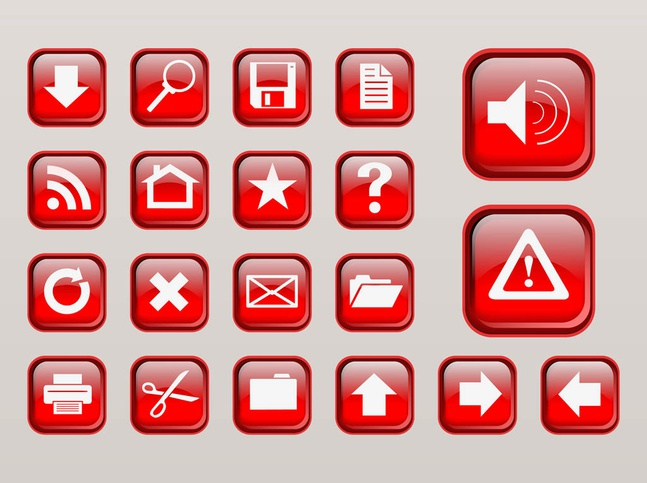 Computer Interface Buttons vector free