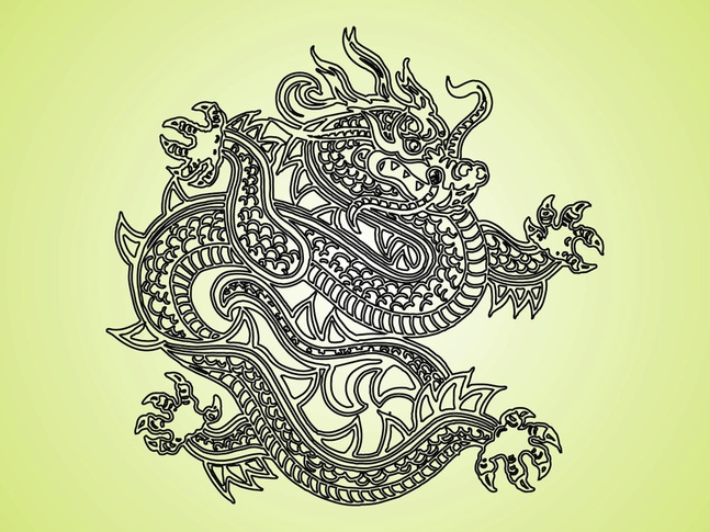 Fantasy Dragon vector free