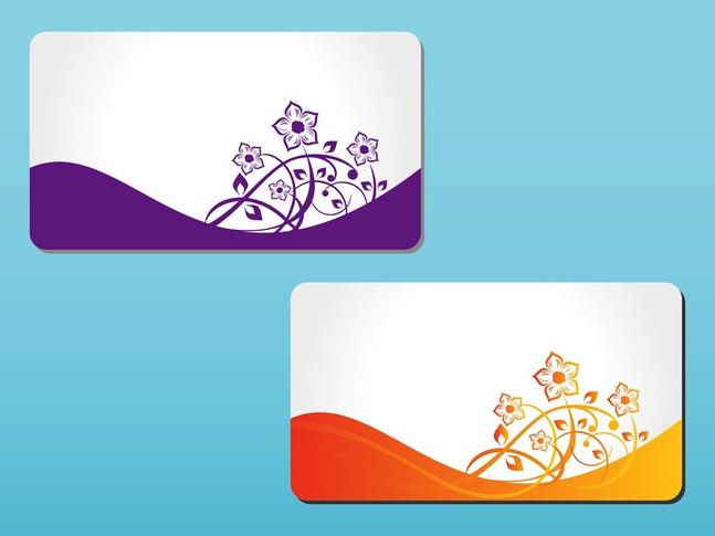 Floral Cards Vectors free