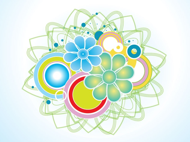 Floral Ornament vector free