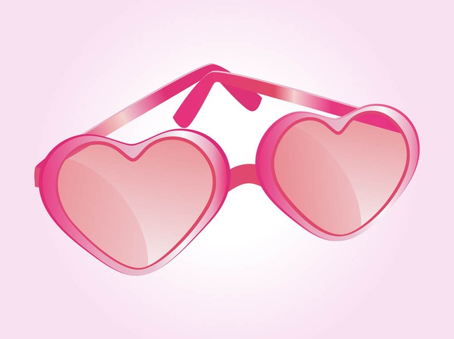 Heart Shaped Glasses Vector free