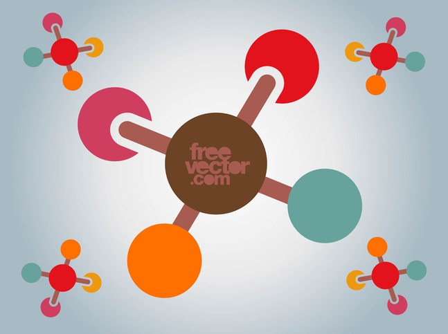 Molecules Icon vector free