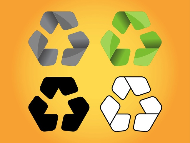 Recycle Logos vector free