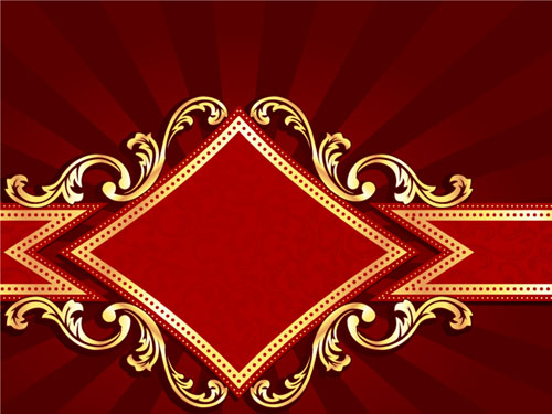 Red style holiday background vector 03 free