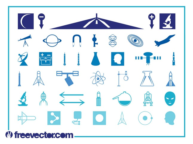 Science Icons Set vector free