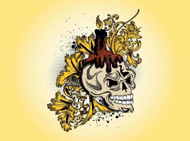 Skull Vector Drawing free