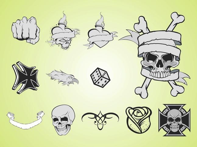 Tattoo Layouts vector free