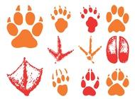 Animal Footprints vector free