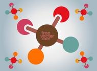 Molecules Icon vector free