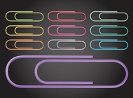 Paperclips vector free