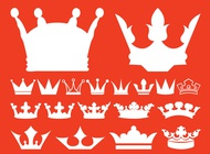 Royal Crowns Collection vector free