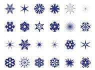 Snowflakes Set vector free