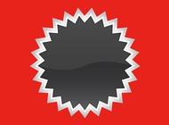 Starburst Sticker vector free