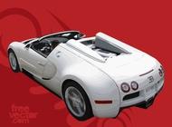 White Bugatti Veyron vector free