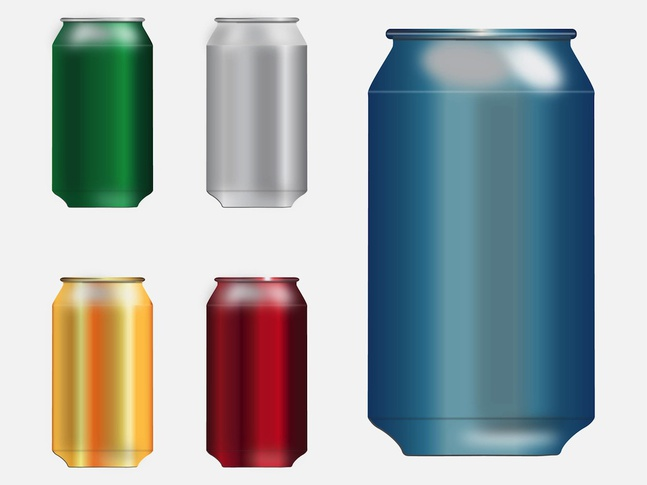 Tin Cans vector free