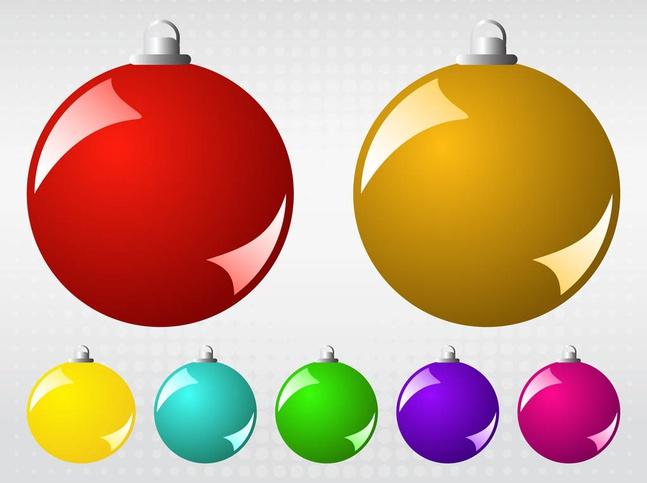 Vector Christmas Balls free
