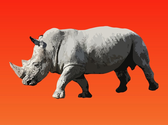 Walking Rhinoceros Vector free