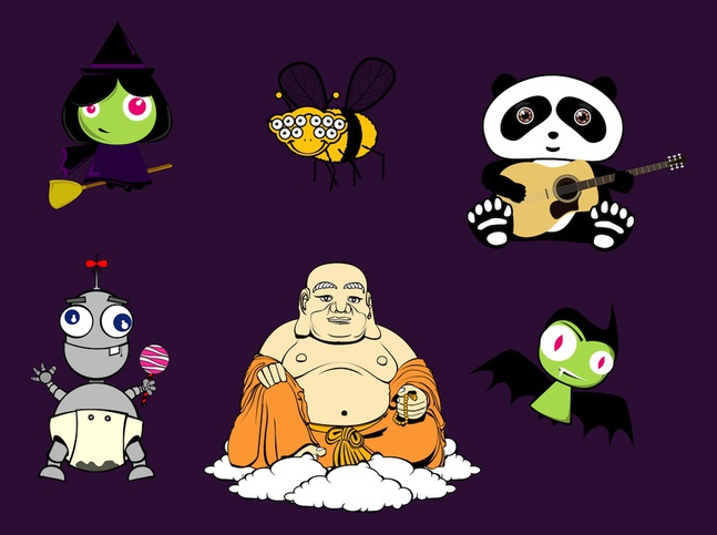 Characters Illustrations vector free