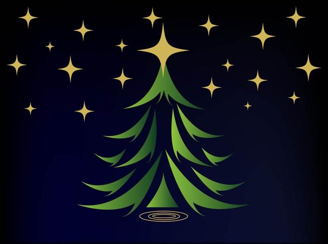 Christmas Card Vector Graphics free