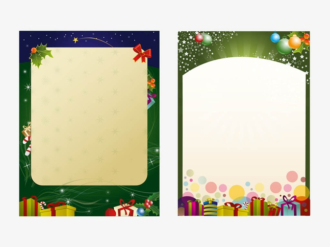 Christmas Poster Templates vector free