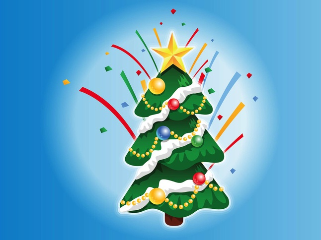 Christmas Tree Graphics vector free