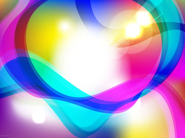 Colorful Lights Background vector free