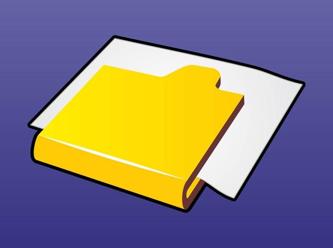 Computer Folder vector free
