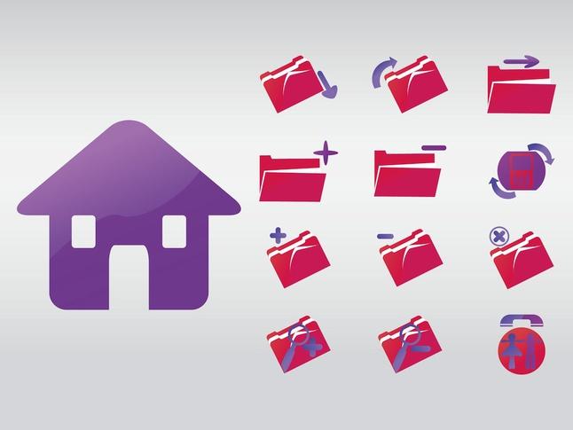 Folder Icons vector free
