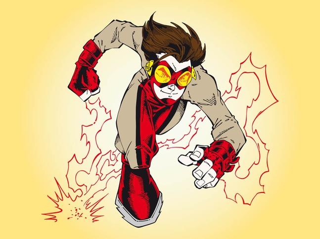 Impulse Superhero vector free