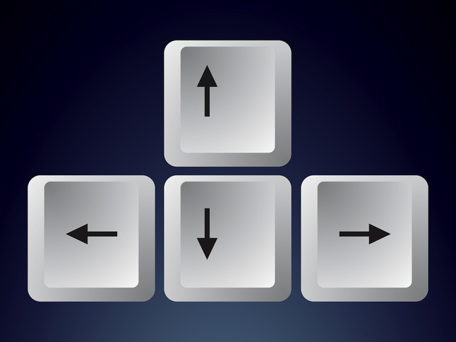 Keyboard Arrows vector free
