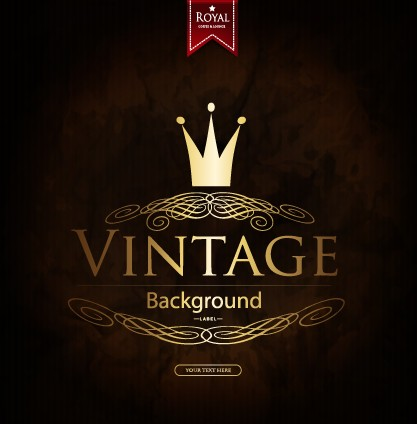 luxurious royal vintage background vector 01 free